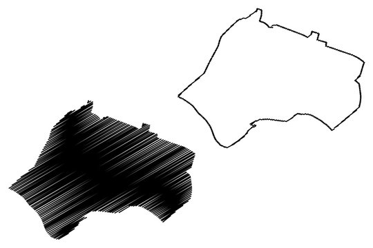 Sukhumi City (Georgia, Republic of Abkhazia) map vector illustration, scribble sketch City of Sokhumi map
