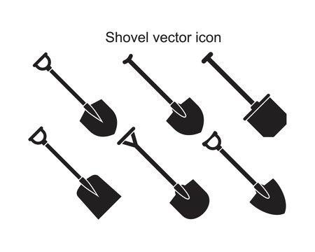 Shovel icon template black color editable. Shovel icon symbol Flat vector illustration for graphic and web design.