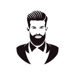 Gentleman logo design. Awesome our combination man & beard logo. A gentleman logotype.