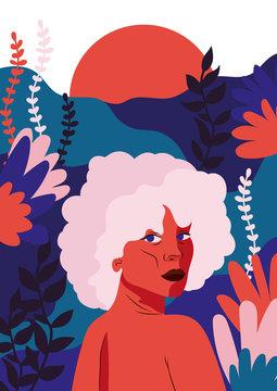 Frau im Dschungel