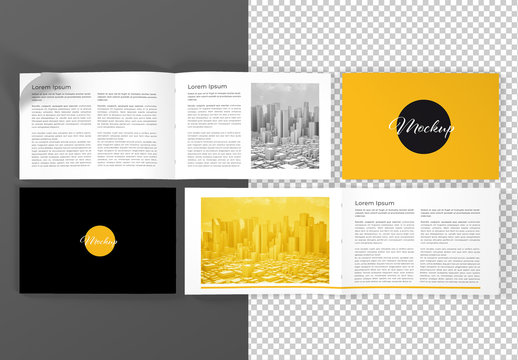 Two Open and Close Brochure Mockup