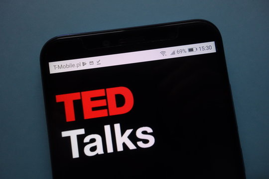 KONSKIE, POLAND - November 12, 2018: TED Talks logo displayed on smartphone