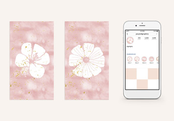Floral Highlight Effect Layouts