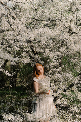 Magic Spring blossom in apple garden