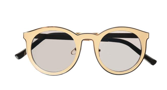 New stylish elegant sunglasses isolated on white