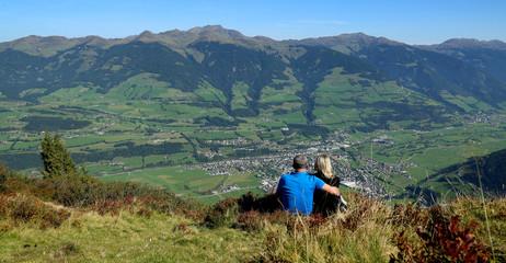 Blick in die Bergwelt der Grasberge und Mittersill.