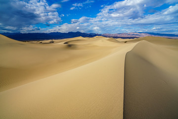 mesquite flat sand dunes in death valley, california, usa