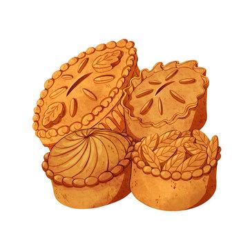 Decorative savory pies