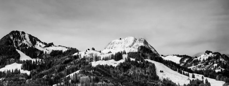Moleson-sur-Gruyeres mountain in Switzerland