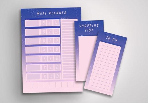 Purple Planner Layout