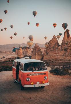 cappadocia and a van