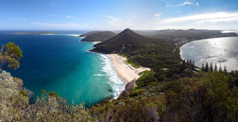 Panorama photo of Nelson Bay, Port Stephens Australia