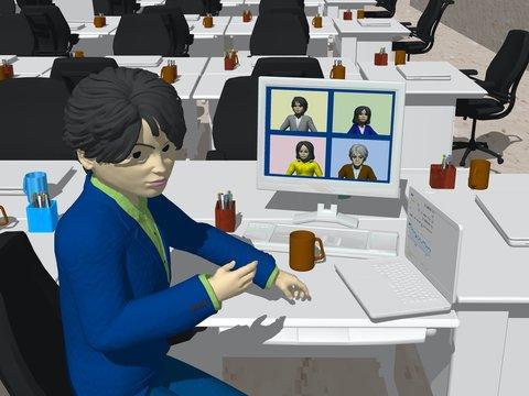 働き方・仕事と効率化・テレワークとテレビ会議