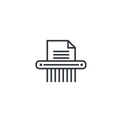 Paper shredder icon design isolated on white background. Vector illustration