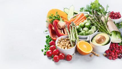 Wall Mural - Vegan diet food.