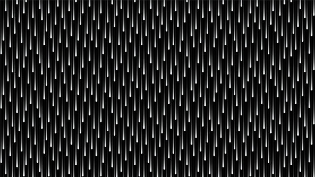 Black and white cosmic rain of glowing lines. HD 16x9 monochrome vector pattern.