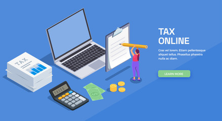 Paying Taxes Online Background