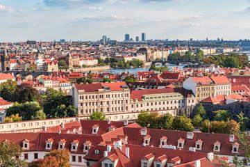 Foto op Aluminium Praag Panorama of Prague, the capital of the Czech Republic.