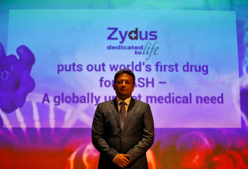 Sharvil Patel, managing director of Cadila Healthcare, poses for a photograph after a news conference in Ahmedabad