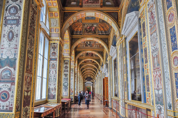 Interiors of State Hermitage museum, Saint Petersburg, Russia