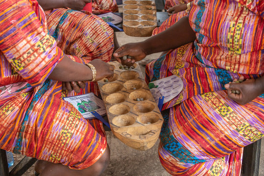 Ayo Olopon is a traditional game played by the Yoruba people of Nigeria. It is a game that requires a lot of brain power and mathematical skill.
