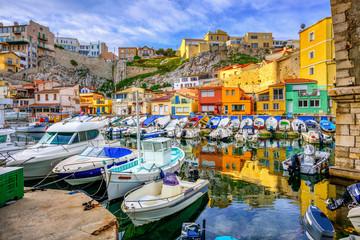 Marseilles old fishing port, Provence, France Fotomurales