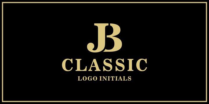 JB monogram classic logo design inspiration