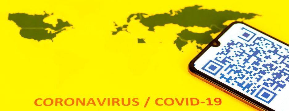 QR Code for coronavirus Covid-19 infection in company