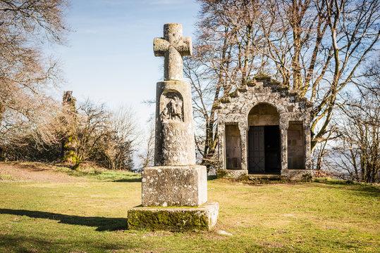 Croix de saint Martin à Bibracte, France, Autun