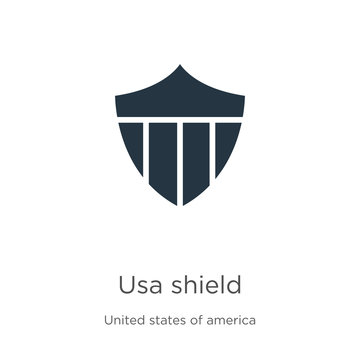 Usa shield icon vector. Trendy flat usa shield icon from united states of america collection isolated on white background. Vector illustration can be used for web and mobile graphic design, logo,