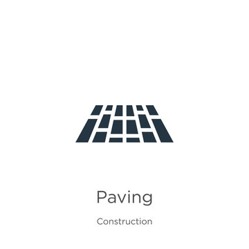 Paving icon vector. Trendy flat paving icon from construction collection isolated on white background. Vector illustration can be used for web and mobile graphic design, logo, eps10