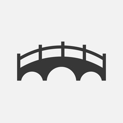bridge vector icon solid for cars and pedestrians