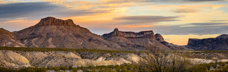 Aluminium Prints Texas Sunset in Big Bend Ranch State Park