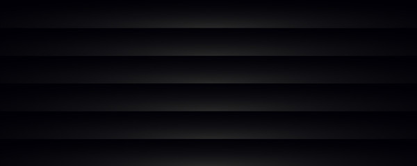 Dark background composed of horizontal black bands with a gray reflection - web banner