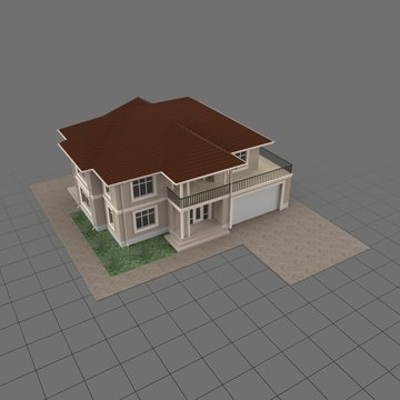 Two story villa