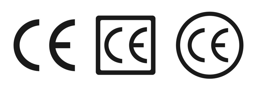 CE mark, CE symbol icon. Certification mark