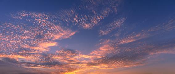 Fototapeta beautiful cloudscape at sunset with red clouds obraz