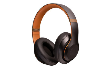 High-quality headphones on a white background. Headphone product photo beats