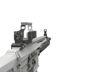 Futuristic military assault rifle - FPS view