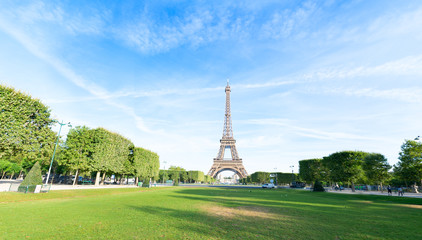 Poster Eiffeltoren eiffel tour and Paris cityscape
