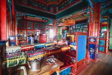 Famous Ivolginsky datsan, Ulan-Ude, Ulan Ude, buddhist monastery, Buryatia republic, Russia. Fototapete