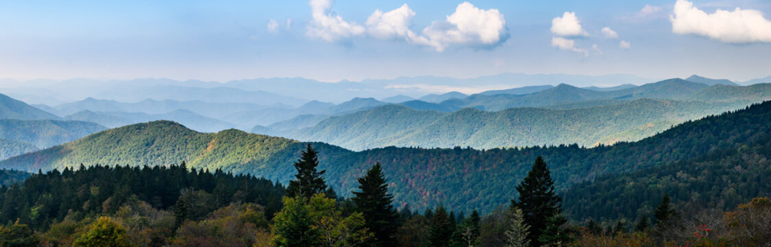 Autumn in the Appalachian Mountains Viewed Along the Blue Ridge Parkway