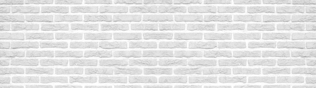 White gray light rustic brick wall texture background banner