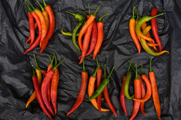 hot chili peppers in the market
