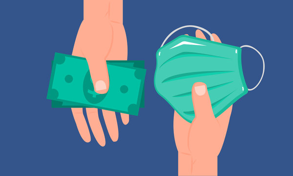 Graphic illustration about Purchase coloured surgical mask for dust protection, Prevent virus. Flat design
