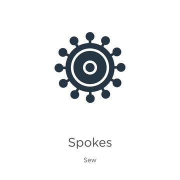 Spokes icon vector. Trendy flat spokes icon from sew collection isolated on white background. Vector illustration can be used for web and mobile graphic design, logo, eps10