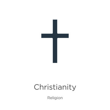 Christianity icon vector. Trendy flat christianity icon from religion collection isolated on white background. Vector illustration can be used for web and mobile graphic design, logo, eps10
