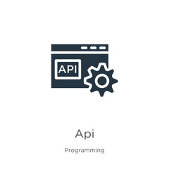 Api icon vector. Trendy flat api icon from programming collection isolated on white background. Vector illustration can be used for web and mobile graphic design, logo, eps10