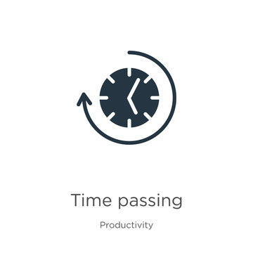 Time passing icon vector. Trendy flat time passing icon from productivity collection isolated on white background. Vector illustration can be used for web and mobile graphic design, logo, eps10