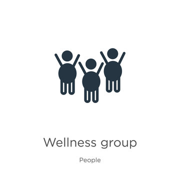 Wellness group icon vector. Trendy flat wellness group icon from people collection isolated on white background. Vector illustration can be used for web and mobile graphic design, logo, eps10